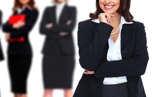 仕事ができることをアピールする女性