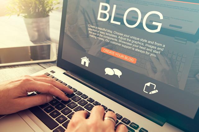 ブログを書く人のパソコン画面