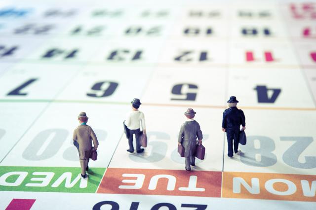 カレンダーと人