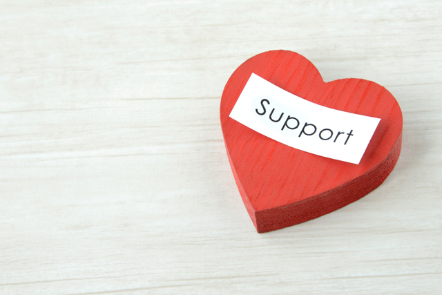 サポートとハート