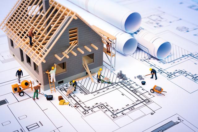 図面と建築現場