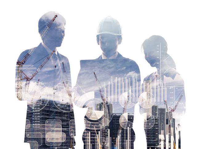 建設業界で働く人々