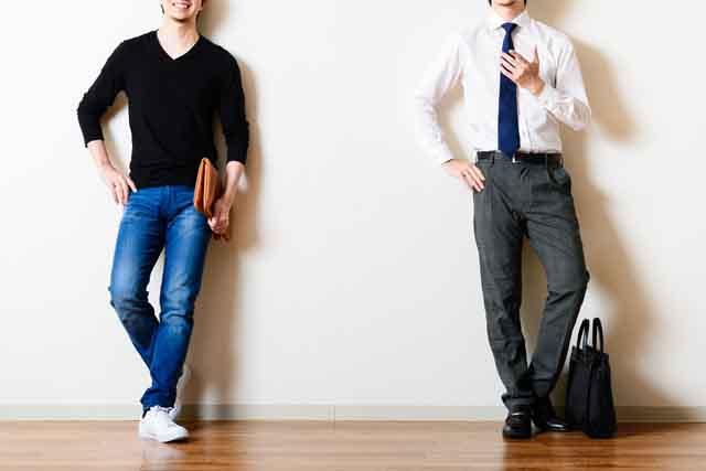 転職活動中の中高年男性イメージ